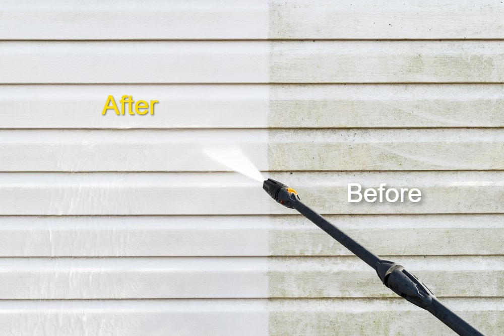 Before and After House Washing Baltimore MD