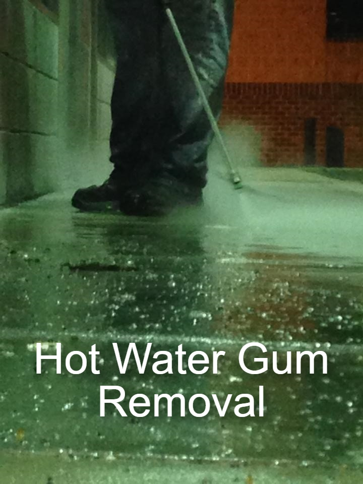 Commercial Power Cleaning Hot Water Gum Removal