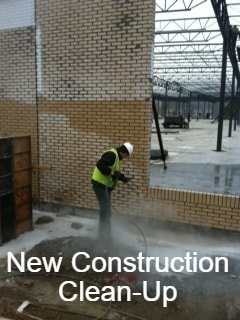 Commercial Power Cleaning New Construction Clean Up