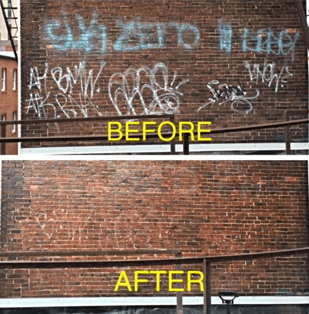 Grafitti Removal Baltimore MD Before and After-min